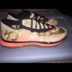 Nike KD 6 VI Elite Gold Size 10 Basketball Shoes